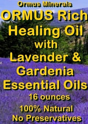 Ormus Minerals --ORMUS Rich Healing Oil with Lavender and Gardenia Essential Oils