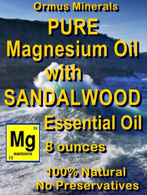 Ormus Minerals -Pure Magnesium Oil with SANDALWOOD EO